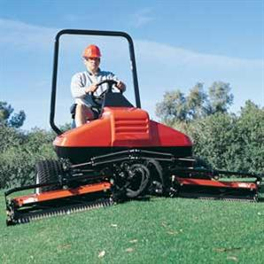 The Jacobsen Tri-King cylinder ride-on mower from Ransomes