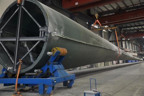 The 77.7-metre Sinomatech blade will be fitted to Goldwind's 6MW turbine
