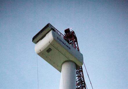 One the blades are installed the turbine will be commissioned