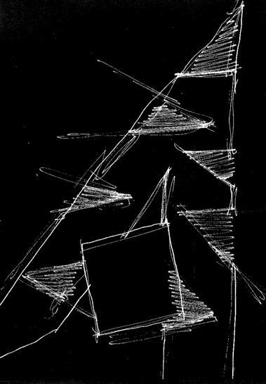 Sketch of wedge Copyright Studio Daniel Libeskind