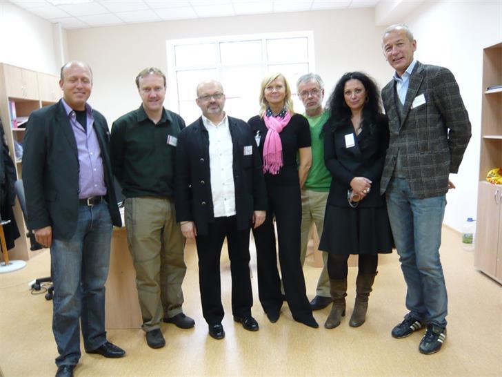 Left to right: Peter Ebner, James McAdam, Oscar Mamleev,  Natalia Lazovskaya, Sergey Malakhov, Nariney Tuchina, Anton Mosin