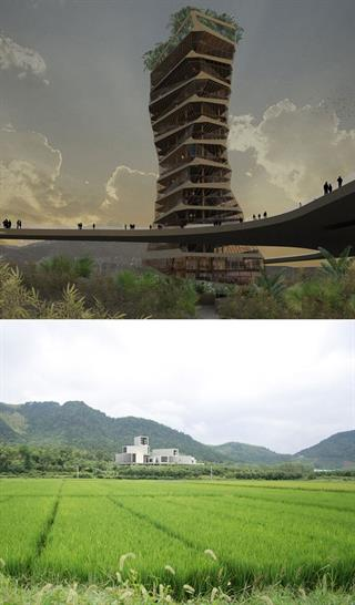 Top: Rojkind Arquitectos, Bottom: HouLiang Architecture