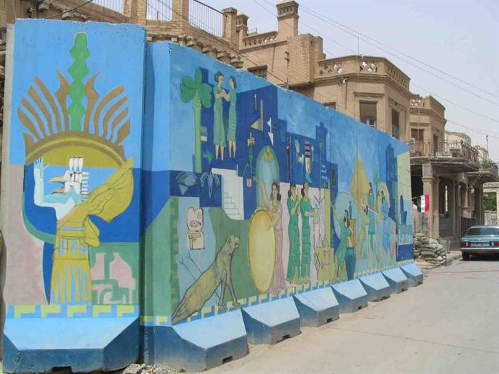 symbol of hope: local artists use sectarian barriers as a canvas for positivity