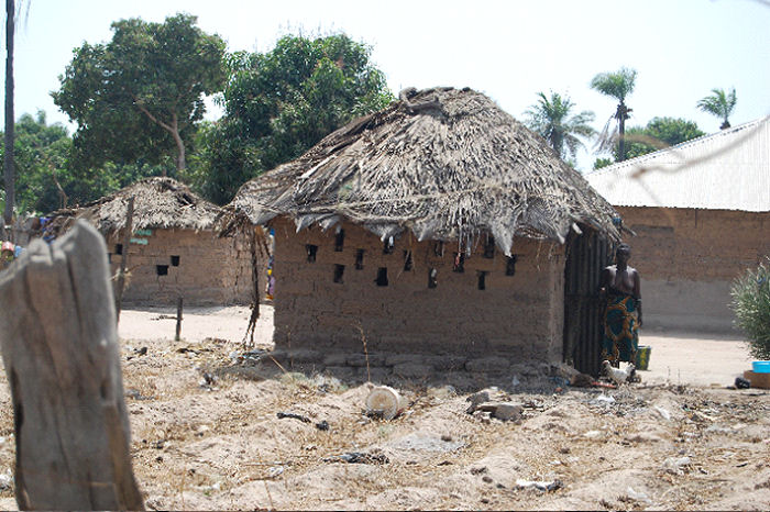 Vented wash area in The Gambia