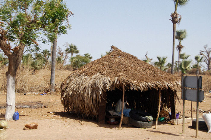 Thatched hut in Senegal