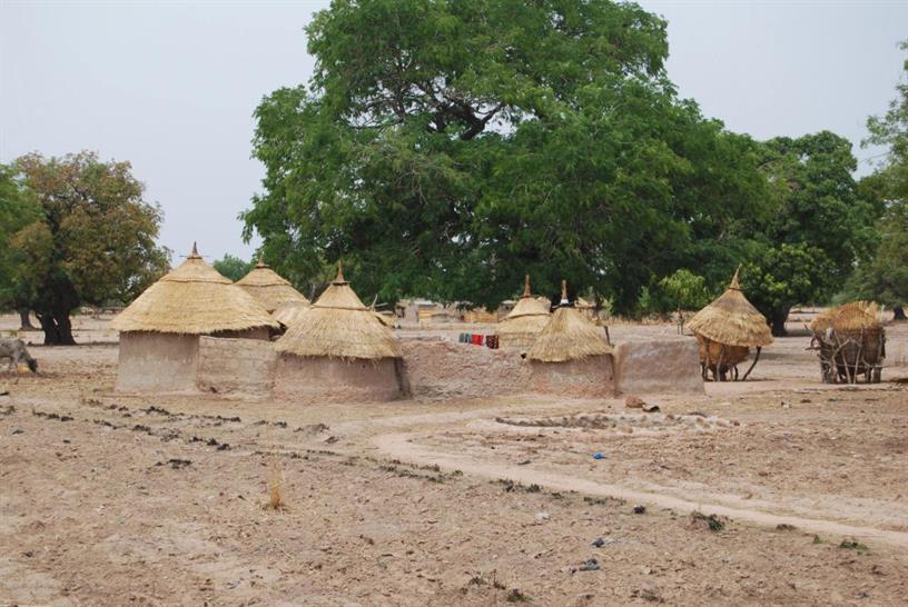Mud huts in Burkina Faso