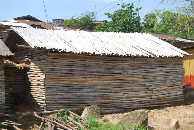 Bamboo structure in Ghana