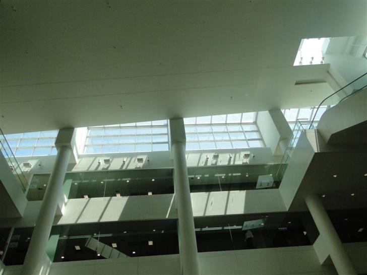 blast resistant structural glazed system in a rooftop atrium - Hong Kong