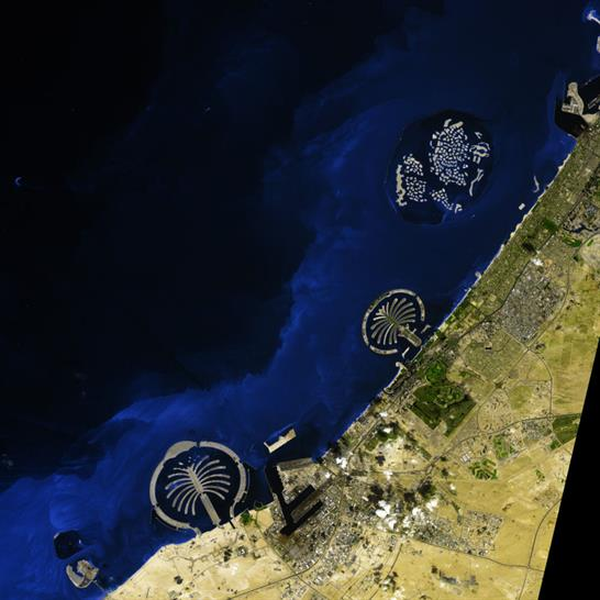 (c) NASA, Dubai coastline March 2009