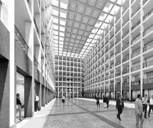 Quelle: Jan Kleihues, Kleihues + Kleihues Simulation: Stefan Lotz, Berlin - Main building
