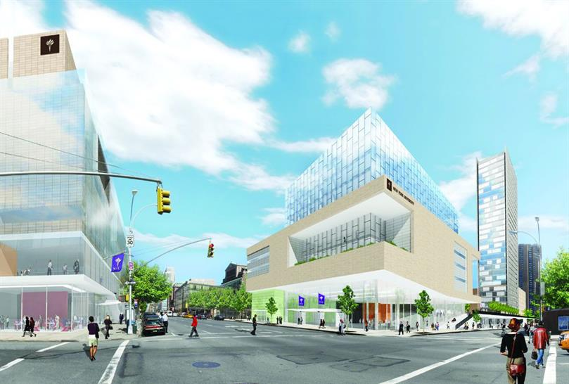 New York University: A view of the propoesed health corridor for NYU
