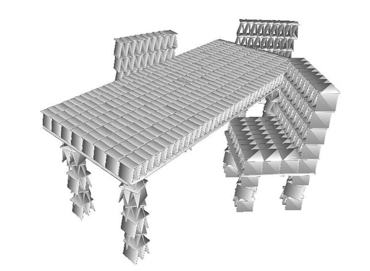 Design for table and chairs