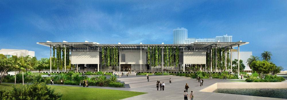 Miami Art Museum at Museum Park © Herzog & de Meuron, visualization by Artefactorylab