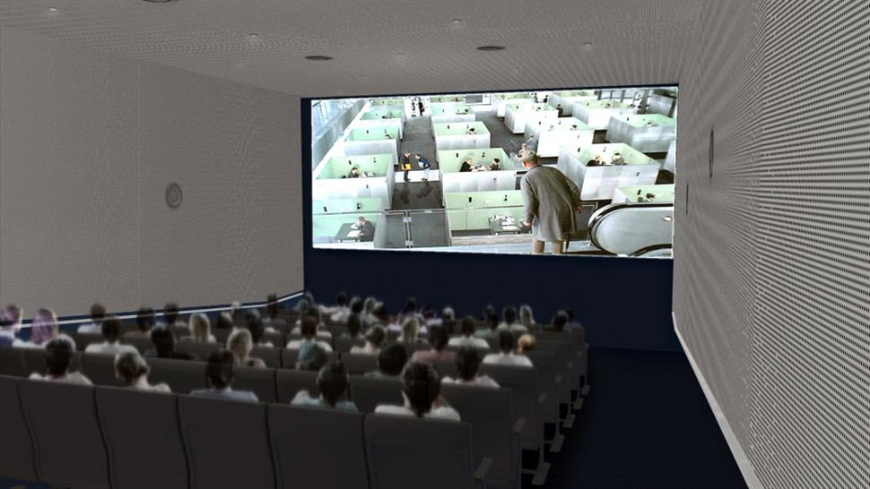 68-seat Celeste and Armand Bartos Screening Room: (Leeser Architecture/Museum of the Moving Image)