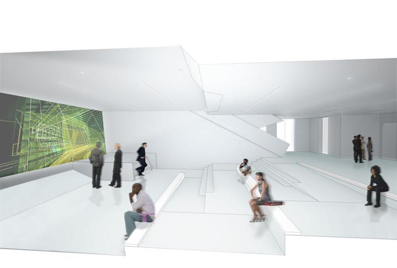View of the Video Screening Amphitheater: (Leeser Architecture/Museum of the Moving Image)