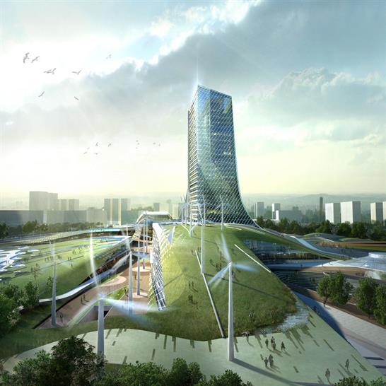 KEPCO Headquarters, Naju, South Korea; Haeahn Architecture + H Associates