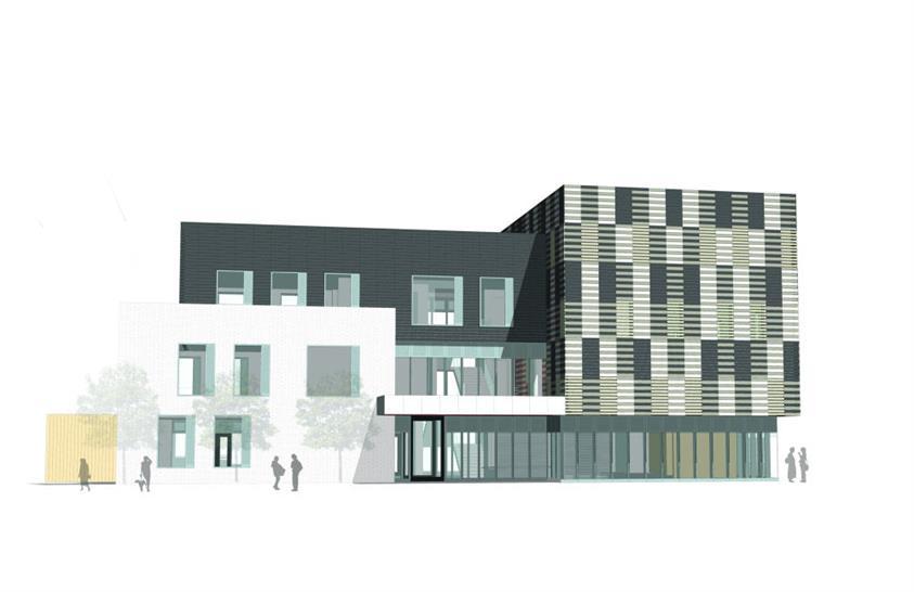 East elevation: Matthew Lloyd Architects LLP