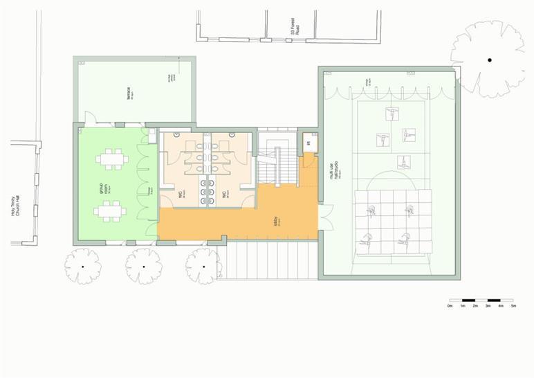 First floor: Matthew Lloyd Architects LLP