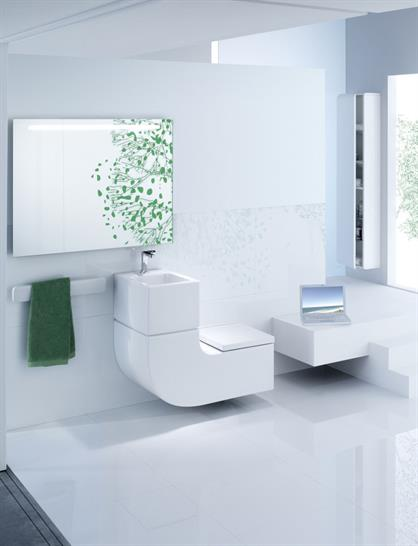 Roca all-in-one washbasin and WC