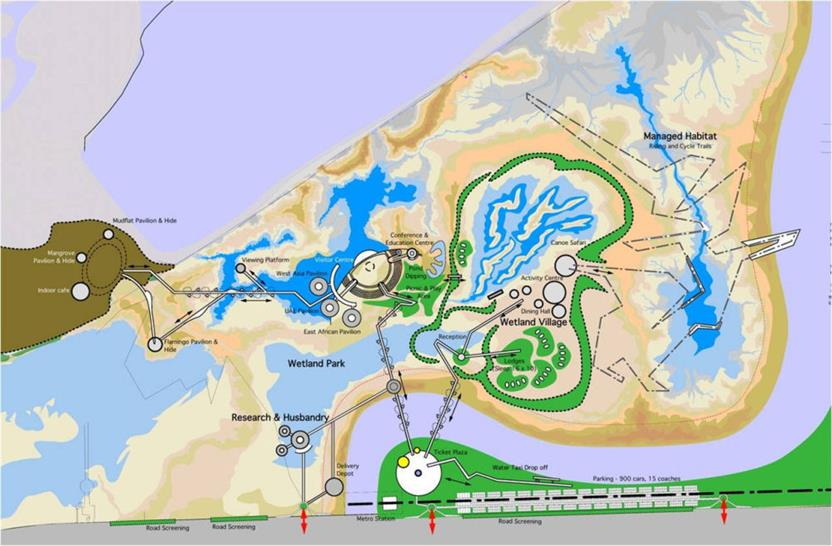 Masterplan for Wetland Park at Ras Al Khor Wetlands, Dubai