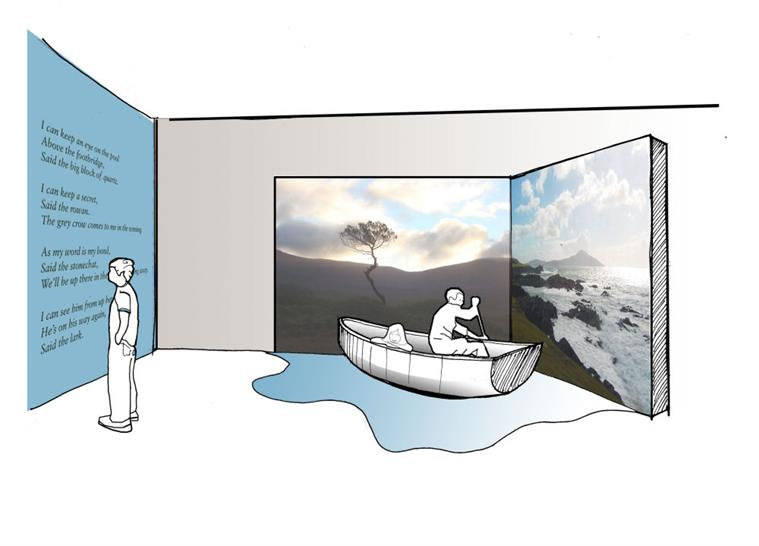 Exhibit Concept, Ballycroy National Park Visitor Centre in Ireland