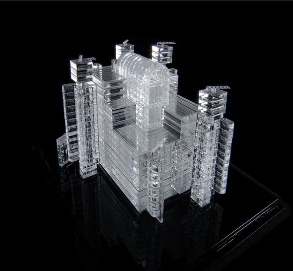 Lord Richard Rogers, 'Lloyds of London' model, donated for 'Objects of Change' (© Richard Rogers)
