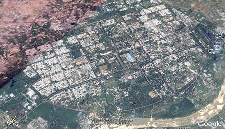 Gandhinagar :Satellite picture from Google