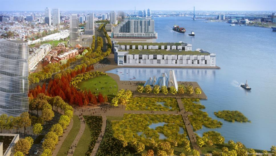 Illustrative Rendering from South of Washington Park and Pier 38 and 40 Renovation