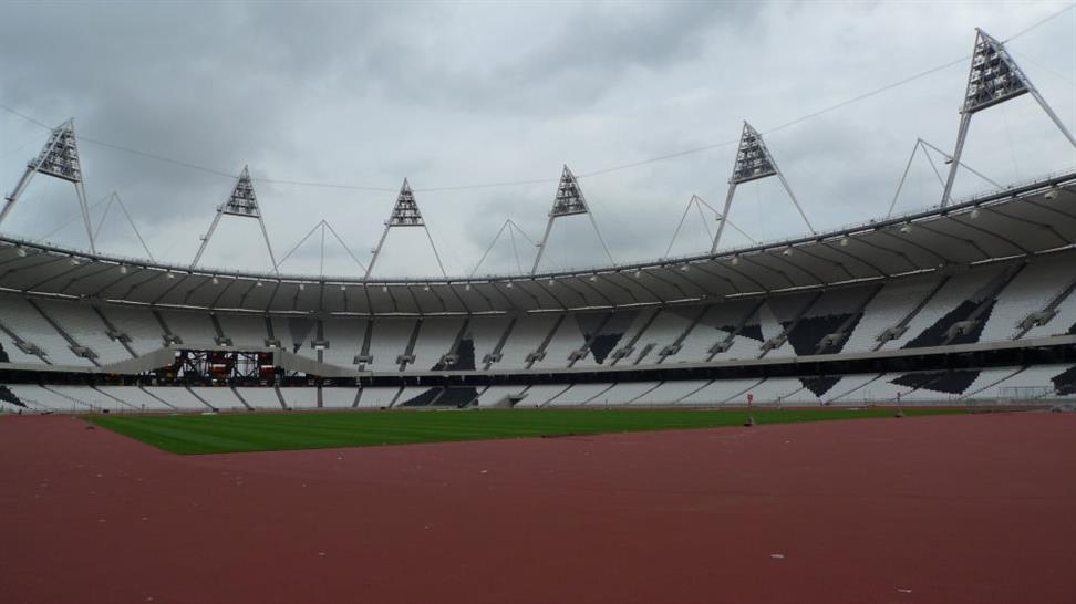 Inside the Olympic Stadium