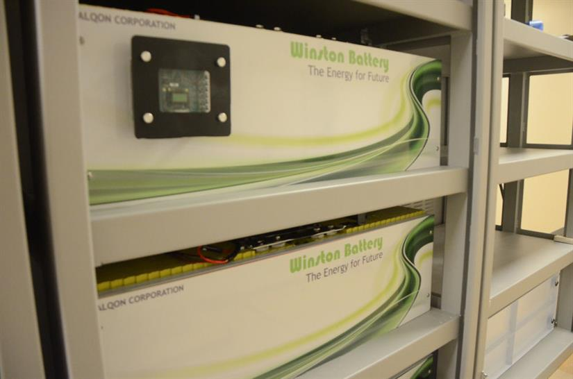 Rare earth lithium-ion batteries that will power the first floor of Winston Chung Hall