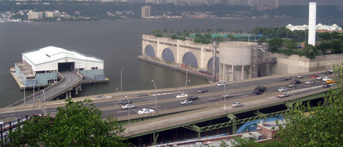 Competiton site on the Harlem River