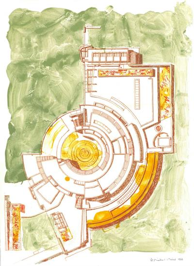 The Getty Center / I-Research Institute ed. Tyler Graphics Print | Original lithograph print on paper