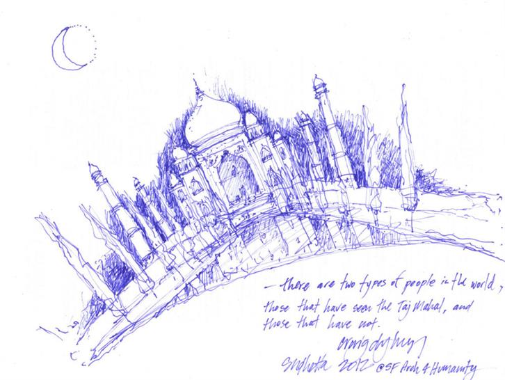 Craig Dykers | Snohetta 2012 @ SF Arch 4 Humanity; Pen on Paper