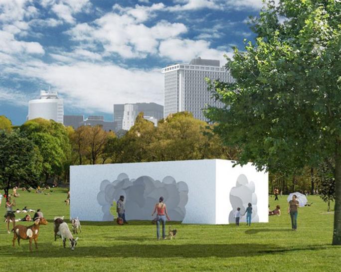 Fodder Form Pavilion by HuycKurlandDowling