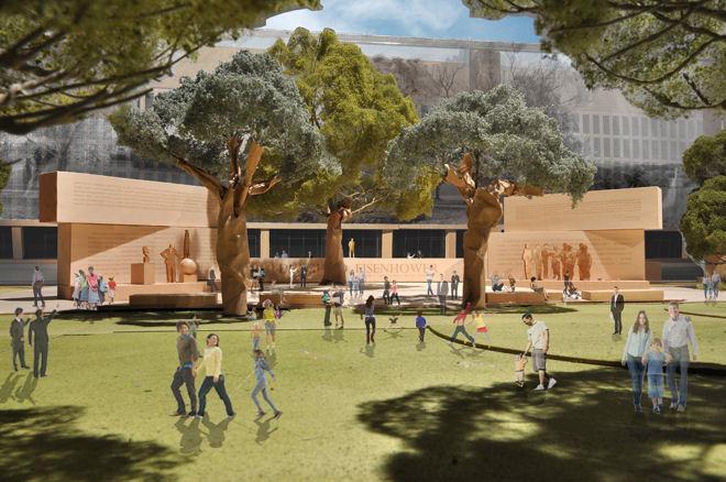 Dwight D. Eisenhower Memorial. Image: Gehry Partners, LLP, 2012