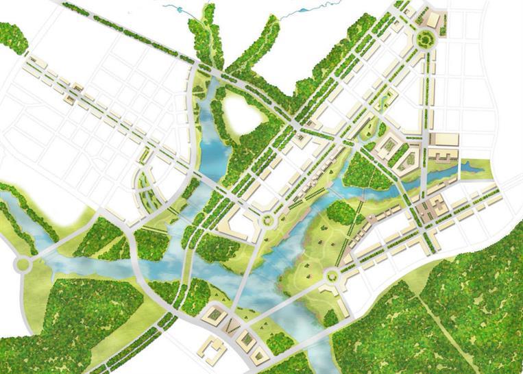 Federal City Landscape Plan. Image: Gillespies