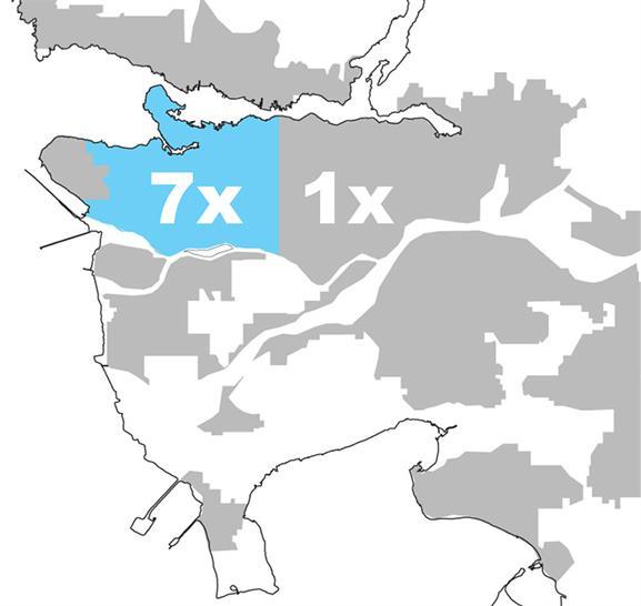 Vancouver  Density Comparison