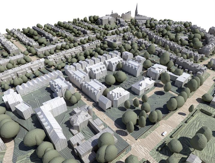 Aerial view of proposal