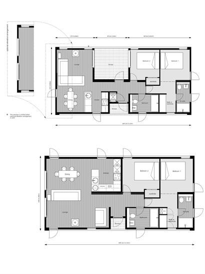 Various floor plan options