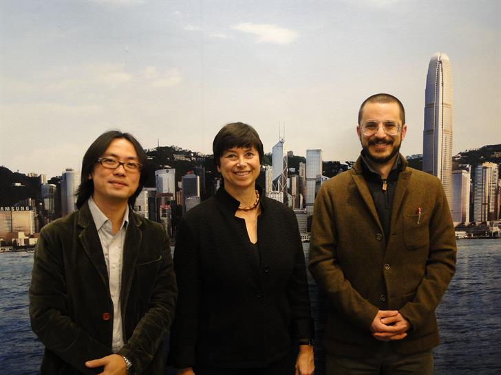 Ah Hung, AIANY 2013 President Jill Lerner, FAIA, and Syracuse Architecture School Assoc. Prof. and Assoc. Dean Jonathan Solomon, AIA