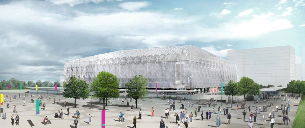 Basketball Arena by Wilkinson Eyre. Image courtesy of Wilkinson Eyre Architects