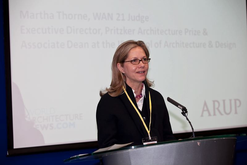 Martha Thorne, Chair of the Pritzker Prize Jury and member of the WAN jury panel