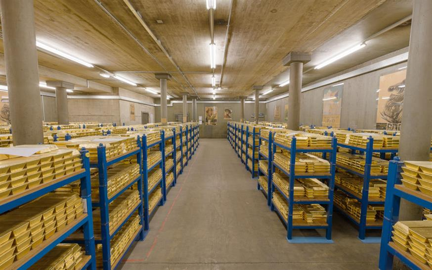 The Gold Vault at the Bank of England