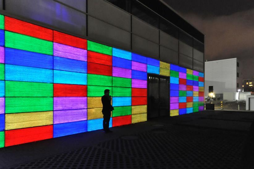 Light-transmitting concrete. Image: LUCEM