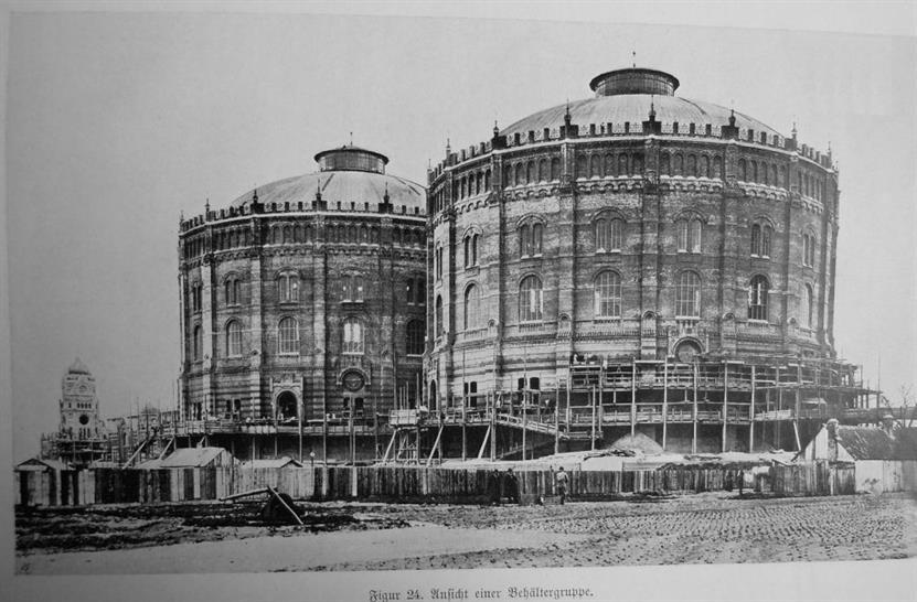 Wiener Gasometer Complex. Image: Wikimedia