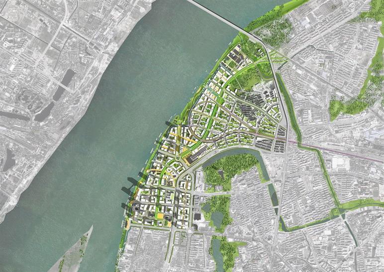Nanjing Xiaguan Riverfront Master Plan, Nanjing, China by SOM