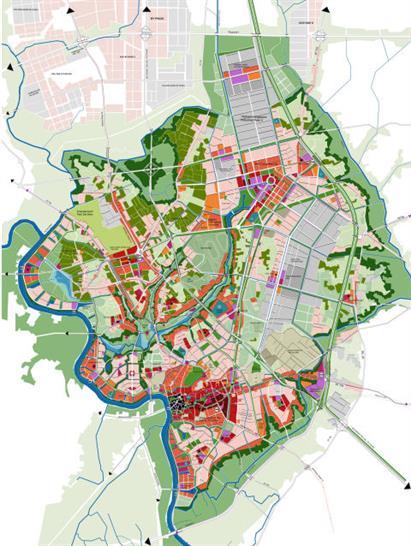 Thu Dau Mot City master plan / Copyright: AREP