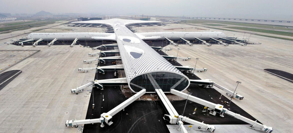 Terminal 3 at Shenzhen Bao'an International Airport – Studio Fuksas with BIAD and Knippers Helbig Advanced Engineering