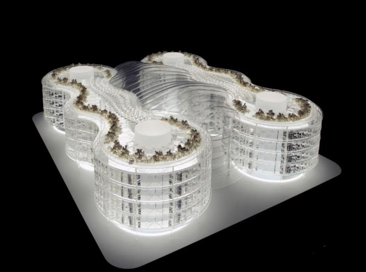Biomimetic Office Building. Image: Exploration Architecture