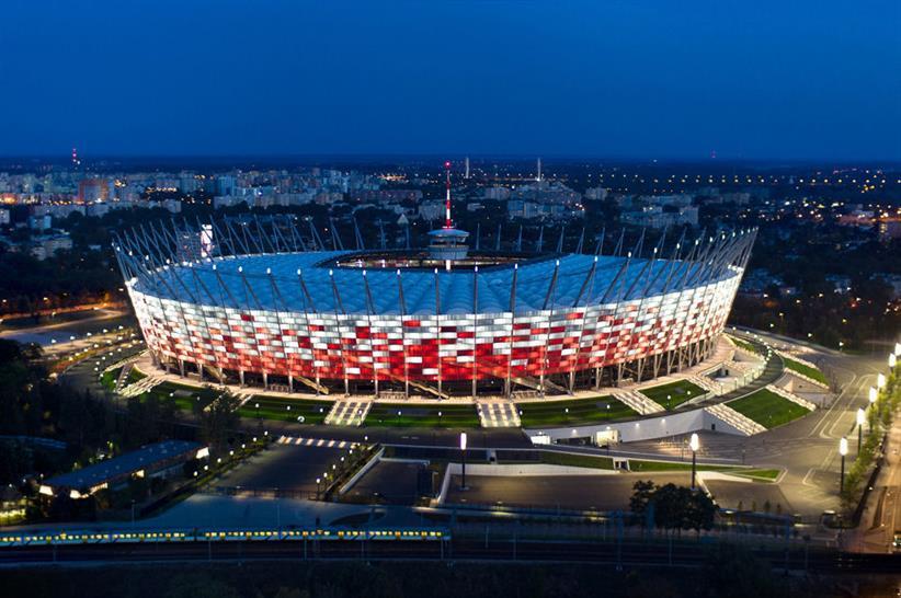 The National Stadium of Warsaw, Poland - Lichtvision